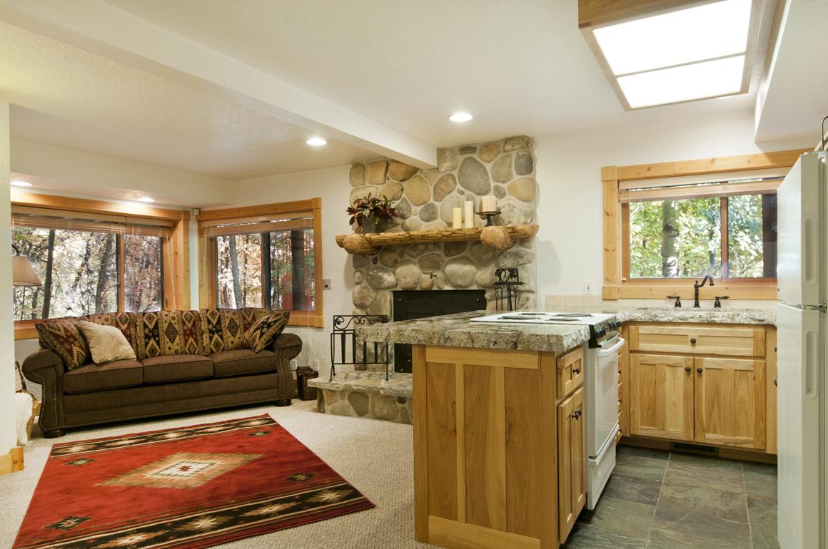 Cabin basement Kitchenette